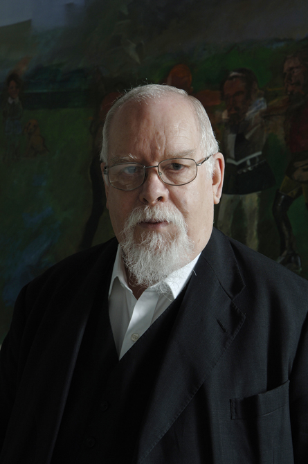 Peter Blake in his studio , photographed by Charlie Hopkinson �2005.